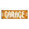 Garage White on Yellow Vintage Look Metal Sign 6x18 106180069013