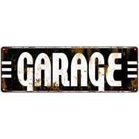 Garage Garage Shop Vintage Looking Metal Sign 6x18 106180069016