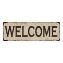 Welcome Vintage Look Home Decor Farmhouse Metal Sign 6x18 106180071004