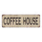 Coffee House Vintage Look Home Decor Farmhouse Metal Sign 6x18 106180071024