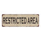 Restricted Area Vintage Look Home Decor Farmhouse Metal Sign 6x18 106180071025