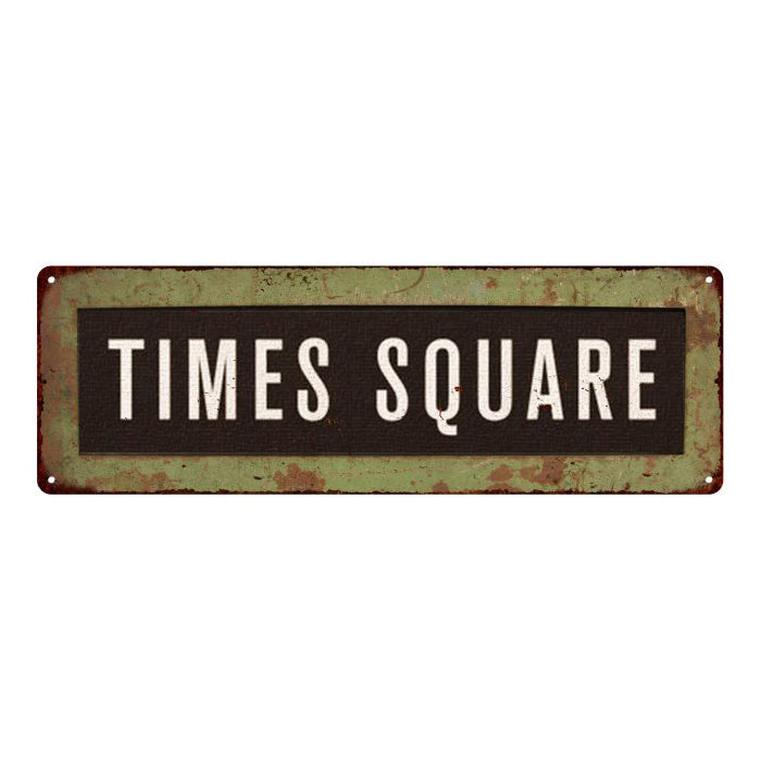 Times Square Trollery Bus Roll Vintage Metal Sign 6x18 106180072003