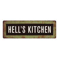 Hell's Kitchen Trollery Bus Roll Vintage Metal Sign 6x18 106180072006