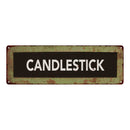 CANDLESTICK Trollery Bus Roll Vintage Look Metal Sign 6x18 106180072018