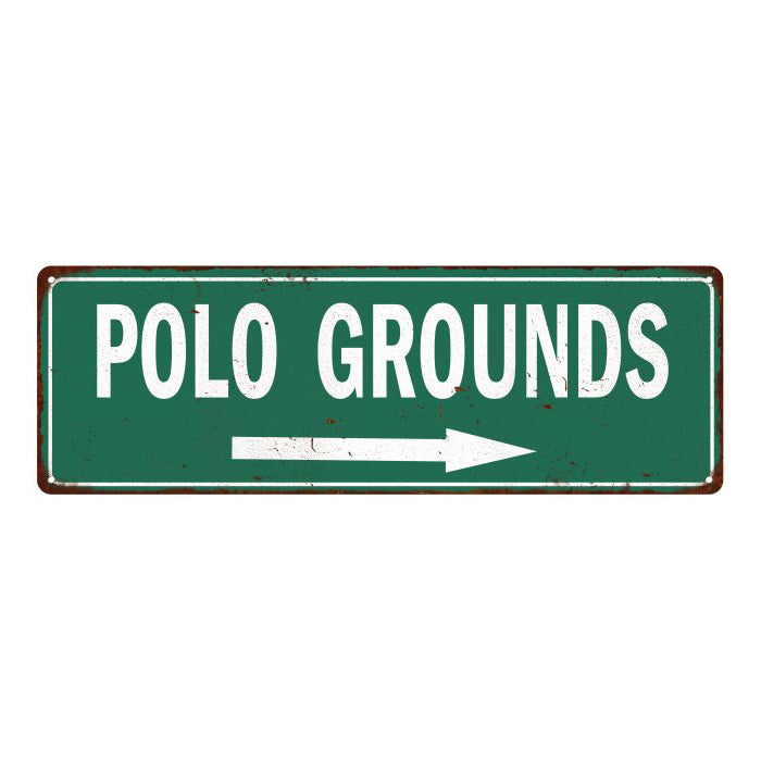 Polo Grounds Vintage Look Ballpark Baseball Metal Sign 6x18 106180073003