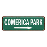 Comerican Park Vintage Look Ballpark Baseball Metal Sign 6x18 106180073004