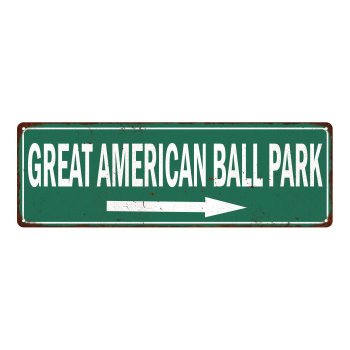 Great American Ball Park Vintage Look Baseball Metal Sign 6x18 106180073012