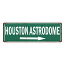 Houston Astrodome Vintage Look Ballpark Baseball Metal Sign 6x18 106180073017