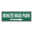 Minute Maid Park Vintage Look Ballpark Baseball Metal Sign 6x18 106180073020