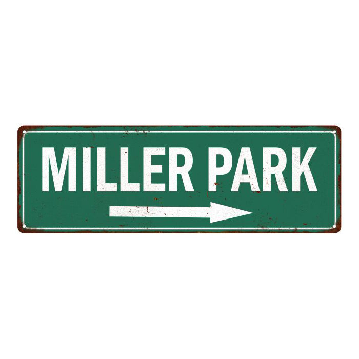 Miller Park Vintage Look Ballpark Baseball Metal Sign 6x18 106180073021