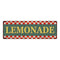 Lemonade Checkerboard Country Style Vintage Metal Sign 6x18 106180075001