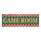 Game Room  Checkerboard Country Style Vintage Metal Sign 6x18 106180075020