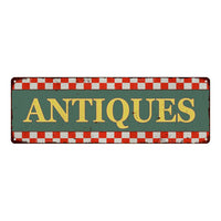 Antiques Checkerboard Country Style Vintage Metal Sign 6x18 106180075021