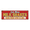 Retro Eat Here Milk Shakes Good Food Retro Vintage Metal Sign 6x18 106180077011