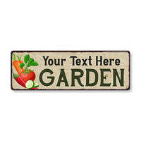 Personalized Garden Vegatables Chic Decor Sign Gift 106180089001