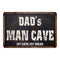 DAD's Man Cave Black Grunge Sign Home Décor Gift Cave Funny 108120004500