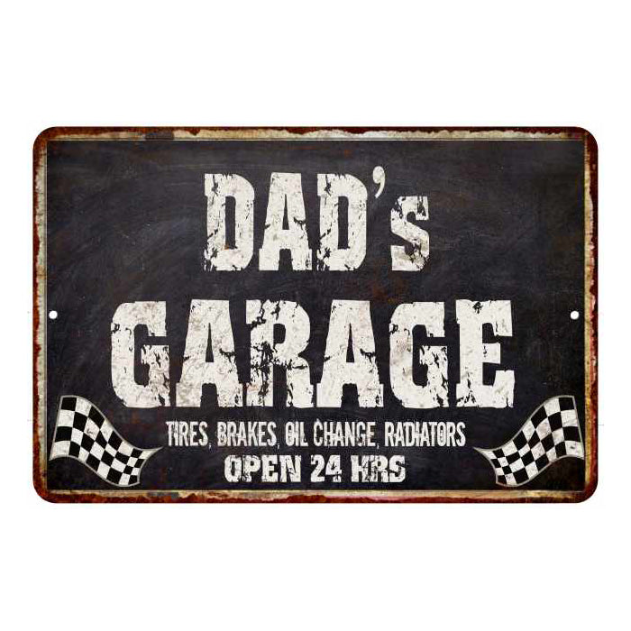 DAD's Garage Black Grunge Personalized Sign 8x12 Decor Gift 108120005500