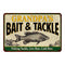 GRANDPA'S Bait & Tackle Personalized Metal Sign Man Cave 8x12 108120016003