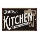 Grandma's Kitchen Personalized Sign Metal Wall Decor Dift 8x12 108120019003