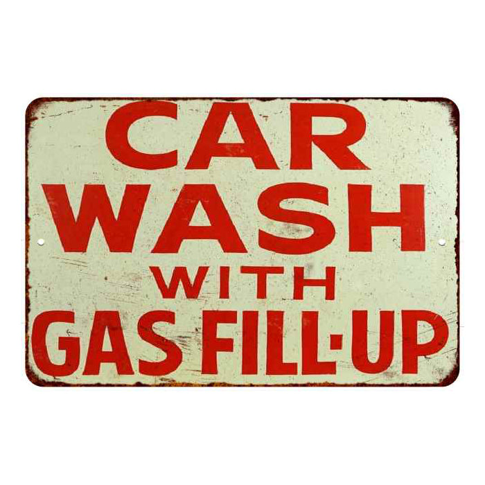 Car Wash Chico >> Car Wash With Fill Up Vintage Look Chic Metal Sign 108120020001