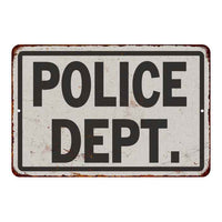 Police Dept. Vintage Look Chic 8x22 Metal Sign 108120020004