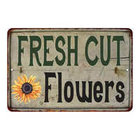 Cut Flowers Vintage Look Garden Chic 8x22 Metal Sign 108120020047