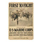 First to Fignt US Marines Vintage Look Chic 8x22 Metal Sign 108120020051