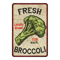 Fresh Broccoli Kitchen Vintage Look Chic 8x22 Metal Sign 108120020053
