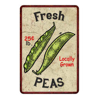 Fresh Peas Kitchen Vintage Look Chic 8x22 Metal Sign 108120020056
