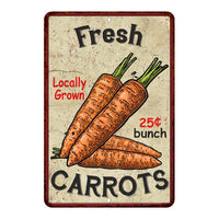 Fres Carrots Kitchen Vintage Look Chic 8x22 Metal Sign 108120020057