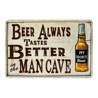 Beer Better Man Cave Vintage Look Chic Distressed 8x12 Metal Sign 108120020084