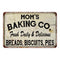 Mom's Baking Co. Vintage Look Chic Distressed 8x12 Metal Sign 108120020087