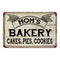 Mom's Cakes, Cookies Vintage Look Chic Distressed 8x12 Metal Sign 108120020098