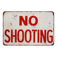 No Shooting Vintage Look Chic Distressed 8x12 Metal Sign 108120020101
