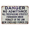 No Admittance  Vintage Look Chic Distressed 8x12 Metal Sign 108120020104