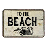 To the Beach Right Hand Vintage Look Chic Distressed 8x12108120020133