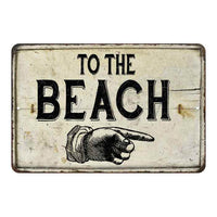 To the Beach Left Hand Vintage Look Chic Distressed 8x12108120020134