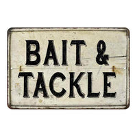 Bait & Tackle Vintage Look Chic Distressed 8x12108120020135