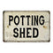 Potting Shed Vintage Look Chic Distressed 8x12108120020139