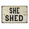 She Shed Vintage Look Chic Distressed 8x12108120020140