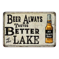 Beer Better at the Lake Vintage Look Chic Distressed 8x12108120020141