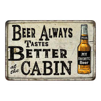 Beer Better at the Cabin Vintage Look Chic Distressed 8x12108120020142