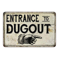 Entrance to Dugout Vintage Look Chic Distressed 8x12108120020152