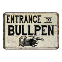 Entrance to Bullpen Vintage Look Chic Distressed 8x12108120020153