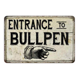 Entrance to Bullpen Vintage Look Chic Distressed 108120020153