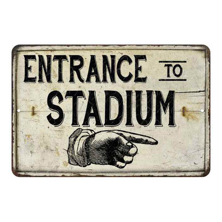 Entrance to Stadium Vintage Look Chic Distressed 8x12108120020156