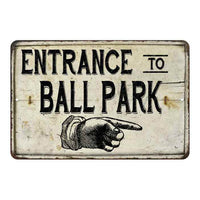 Entrance to Ball Park Vintage Look Chic Distressed 8x12108120020160