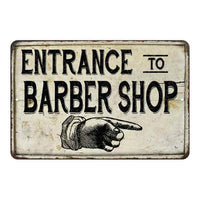 Entrance to Barber Shop Vintage Look Chic Distressed 8x12108120020161