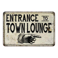 Entrance to Town Lounge Vintage Look Chic Distressed 8x12108120020163