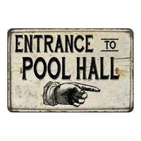 Entrance to Pool Hall Vintage Look Chic Distressed 8x12108120020165